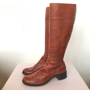 Costume National camel colour leather boots